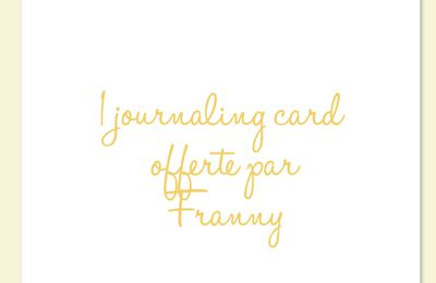 journaling cards ☆freebies