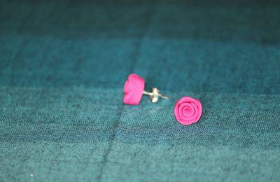 Boucles d'oreilles en roses