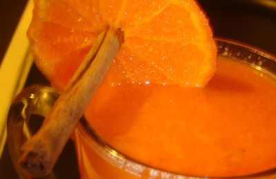 jus de carottes,orange et cannelle