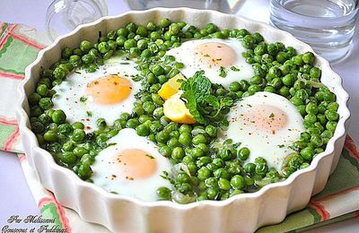 Tagine jelbana - Peas tagine with eggs