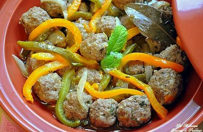 Kefta Tagine (meatballs) with peppers