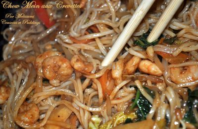 Prawn Chow Mein or Chinese Noodles with Prawns