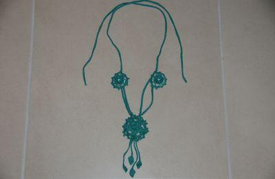 "BIJOU AU CROCHET : collier irlandais ""Emeraude"" TUTORIEL GRATUIT"