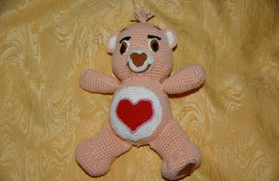 DOUDOU AU CROCHET : bisounours orange GROSBISOUS tutoriel gratuit