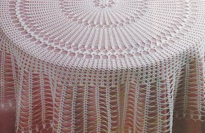 "CROCHET : nappe ronde ""Arabesques"" TUTORIEL GRATUIT"