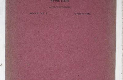 1912. La revue des hommes nouveaux, 1ère publication de Cendrars ?