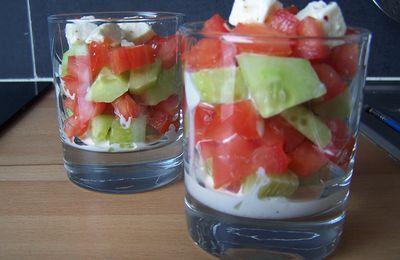 Verrine Concombre-Tomate-Feta (par Aurélie)