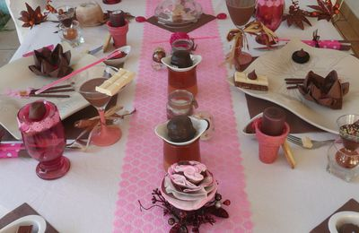 MA TABLE CHOCOLAT GOURMAND pour Delphine