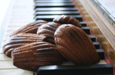 Madeleine au chocolat et au miel
