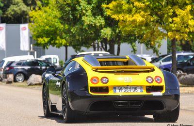 Bugatti Grand Sport Vitesse jaune et noire à Molsheim