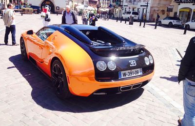 Bugatti Grand Sport Vitesse orange à Obernai
