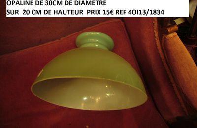 LUSTRE. ancienne opaline blanche pour lustre ref 3012/1340 ..parfait état..