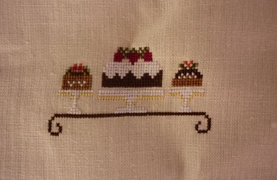 Chocolate Shoppe, Little House Needleworks (encours 2): SAL pochette LHN