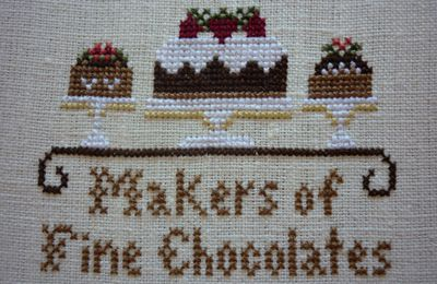 Chocolate Shoppe, Little House Needleworks (encours 3): SAL pochette LHN