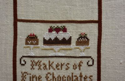 Chocolate Shoppe, Little House Needleworks (encours 5): SAL pochette LHN