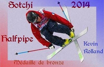 JO Sotchi 2014: une belle médaille de bronze pour Kévin Rolland en Halfpipe
