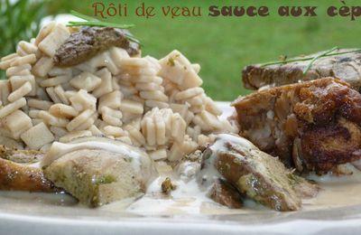 Rôti de veau sauce aux cèpes