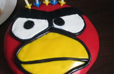 Gâteau d'anniversaire Angry bird