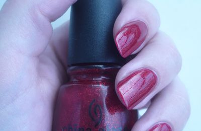Ruby pumps de China Glaze.