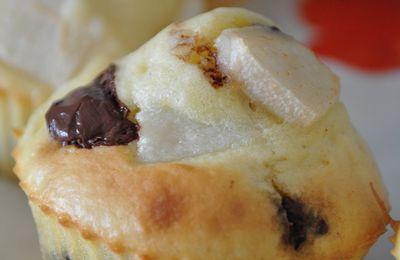 Muffins poire belle hélène (poire et chocolat)
