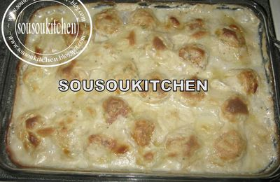 Fish gratin with Bechamel sauce