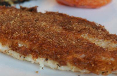Filet de poisson & sa croûte aux noisettes