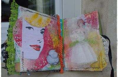 "Art journal - Etape n°8 "" inspiration gourmandise"""