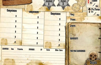Work in Progress : Fiche de personnage DeadLands Reloaded