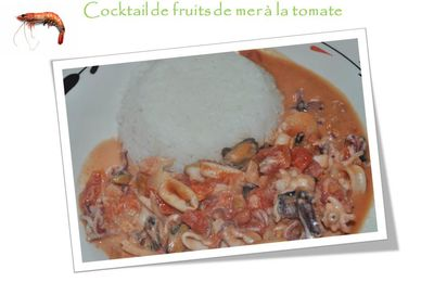 Cocktail de fruits de mer à la tomate