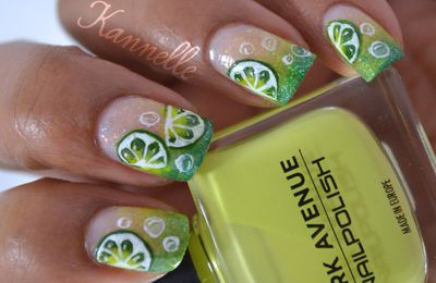 Nail art citronné!