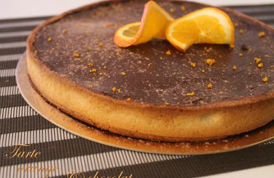 Tarte au chocolat et à l'orange