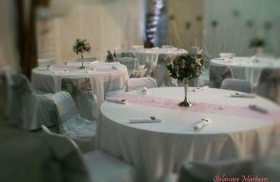dcoration rose et argent mariage etrechy - Chateau De Valnay Mariage