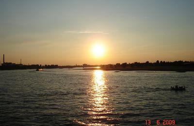 Coucher de soleil sur le Rhin
