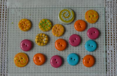 assortiments boutons fimo