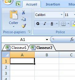 Naviguez avec des onglets entre vos classeur Excel avec OfficeTab