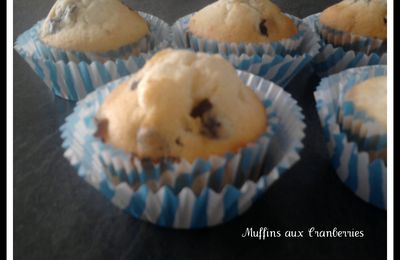 MUFFINS AUX CRAMBERRIES