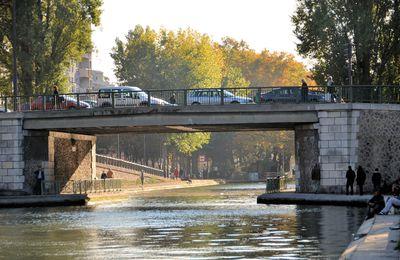 Promenade entre le canal de l'Ourcq et le canal Saint Martin