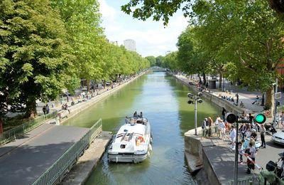 Le canal Saint Martin et ses écluses