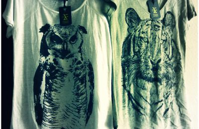 T-shirts hibou ou tigre Fashion Express ( Carrefour )...