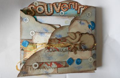 scrapbooking: tryptique souvenir et son mini