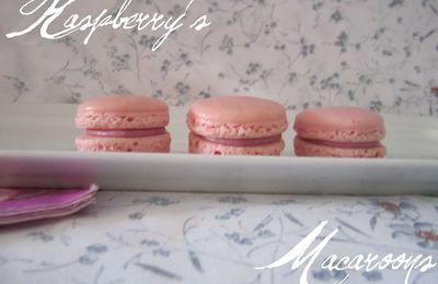 Macarons chocolat blanc/framboise