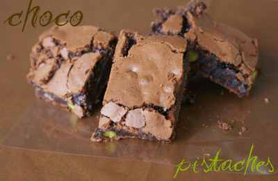 Brownie choco-pistaches