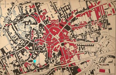 ABBEVILLE: carte de la ville : destructions en 1940