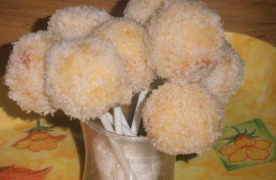 Rochers au coco façon cake pops