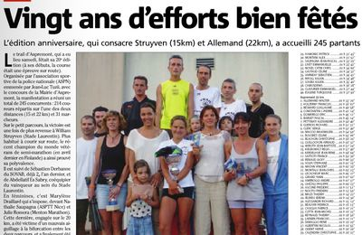 Trail d'Aspremont, l'article