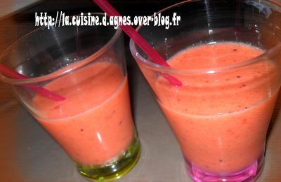 Smoothie fraise-kiwi-melon