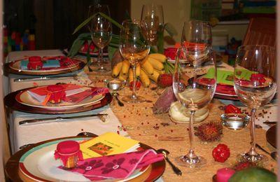 Décoration de table africaine