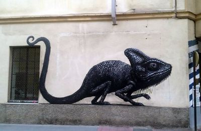 Roa new mural in Malaga, Spain part II