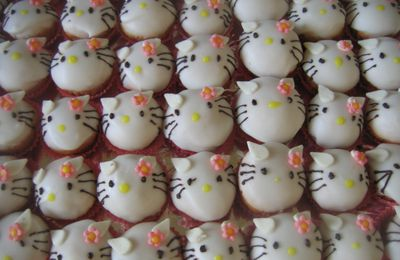 Cupcakes hello kitty et spiderman