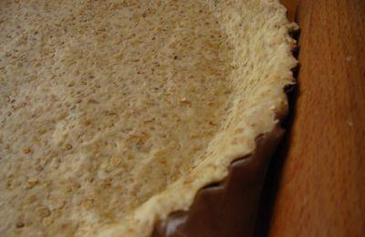 Pâte à tarte aux flocons d'avoine et sésame